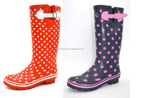Wellington Boots WomenLong Rubber Rain Boots With buckle