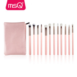 MSQ 12pcs rose gold eyebrow brush private label eyeshadow makeup brush set wholesale makeup brush