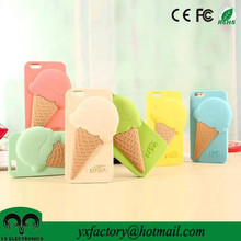 cute 3d silicone melting ice cream cover case