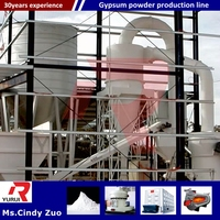 plaster of paris plant/internatioal advanced fully automatic gypsum powder production machine