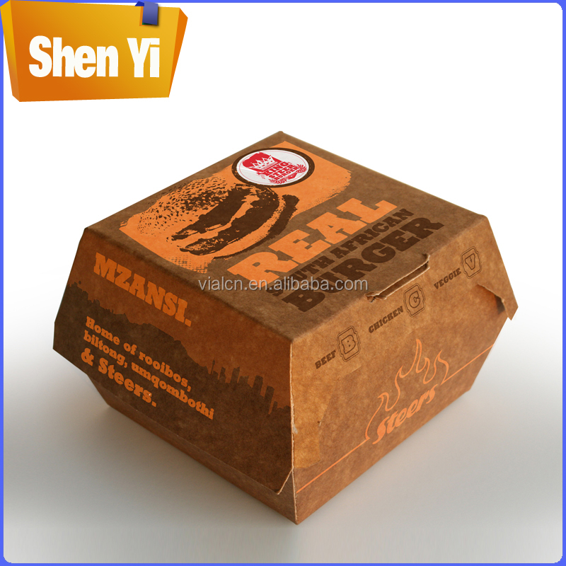 Hot-selling custom food packaging box cardboard burger box