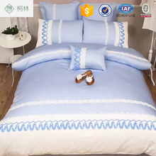 Custom luxury american cotton patch embroidery bedding set manufacturers