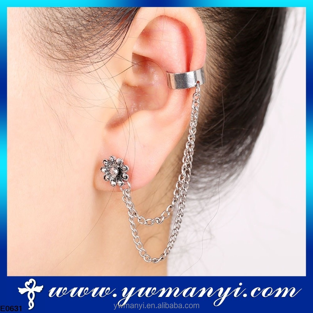 Silver Color Chain Earring Cuff Jewelry Imported From China Se00034 Product On Alibaba
