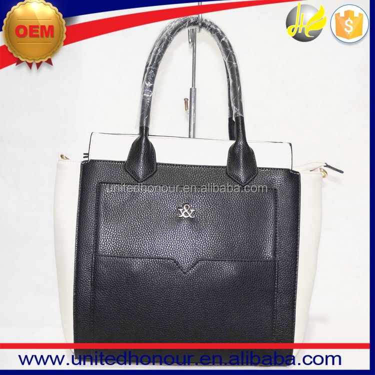 Made in Guangzhou factory vivid and great style four colors PU ladies bags handbag