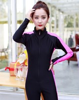 Perfect sex triathlon diving wetsuit for girls