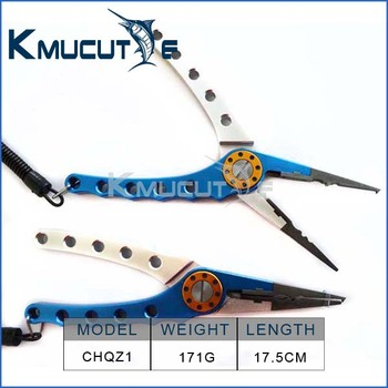 Metal Fishing Tackle Manufacturer/wholesale fishing plier CHQZ1 7inch 170g aluminum alloy fishing pliers