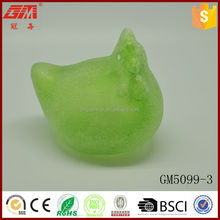 factory direct sell glass hen with led light