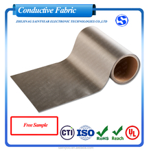 Factory Wholesale Military Grade Emi Fabric Nickel Copper Conductive Fabric Rfid Blocking Fabric For Wallets