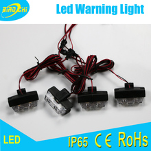 Manufacturer 8W 4X2Leds one to four universal mini grille warning light for fire engine