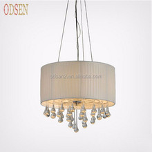 wholesale modern large fabric lampshade luxury lighting chandelier