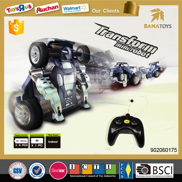 Transform mini robot toy remote control rc cars