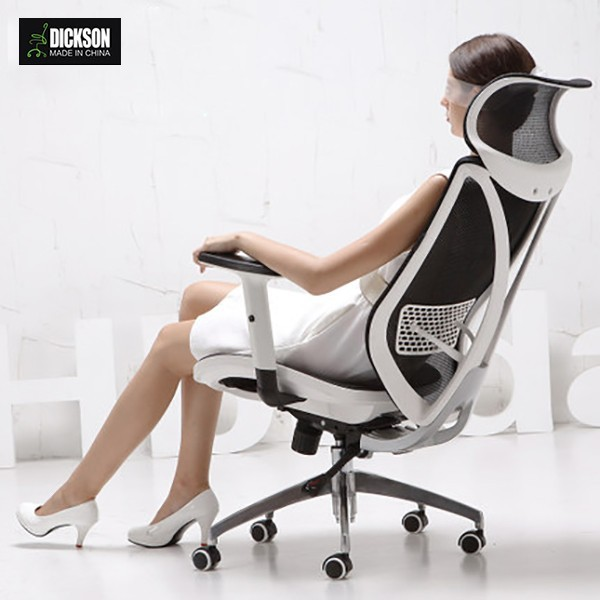 Dickson white Seat cushion is full mesh chair is all mesh ergonomic tech-oriented office chair