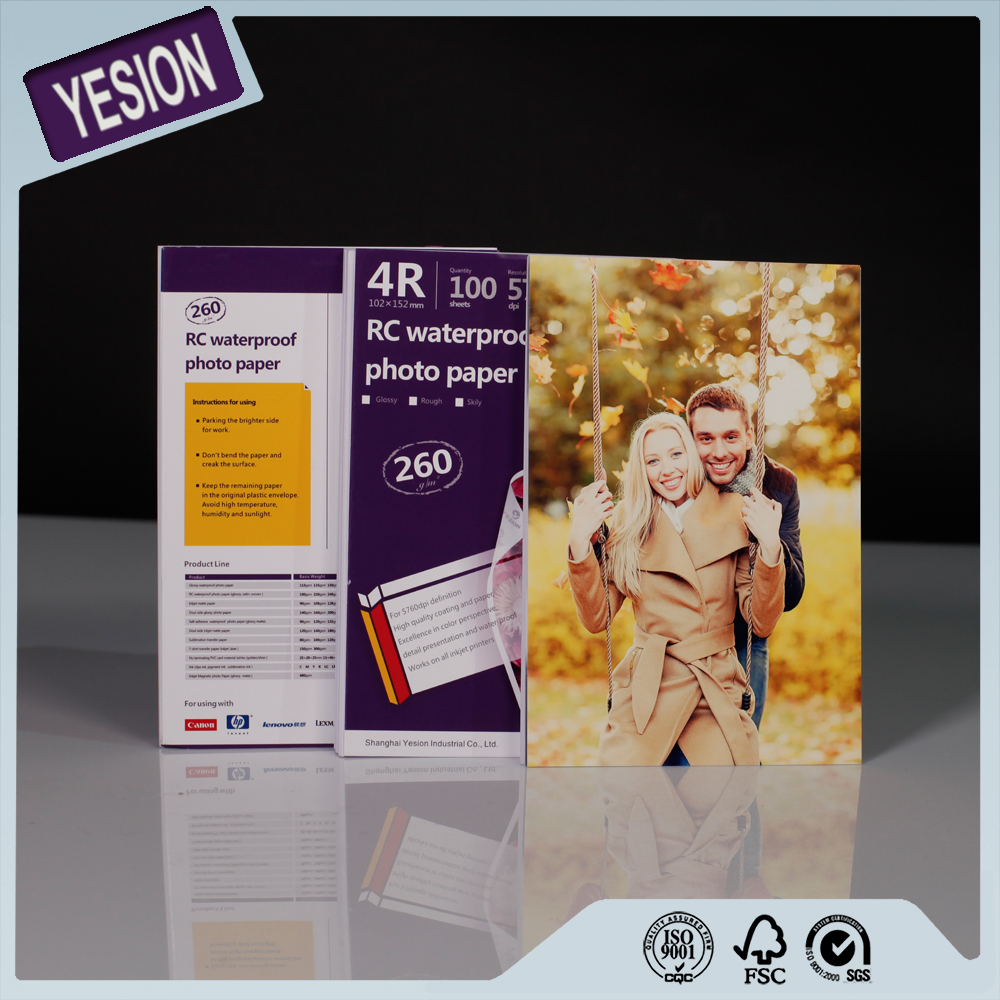 Yesion Premium RC Glossy Photo Paper/ Waterproof Glossy&Satin&Silk&Rough RC Photo Paper