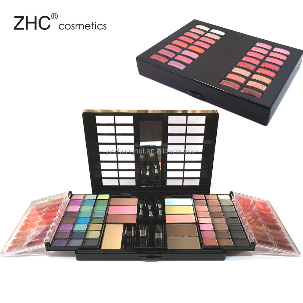 CC30441 New collocation cosmetic set eyeshadow, face powder, lip gloss makeup set