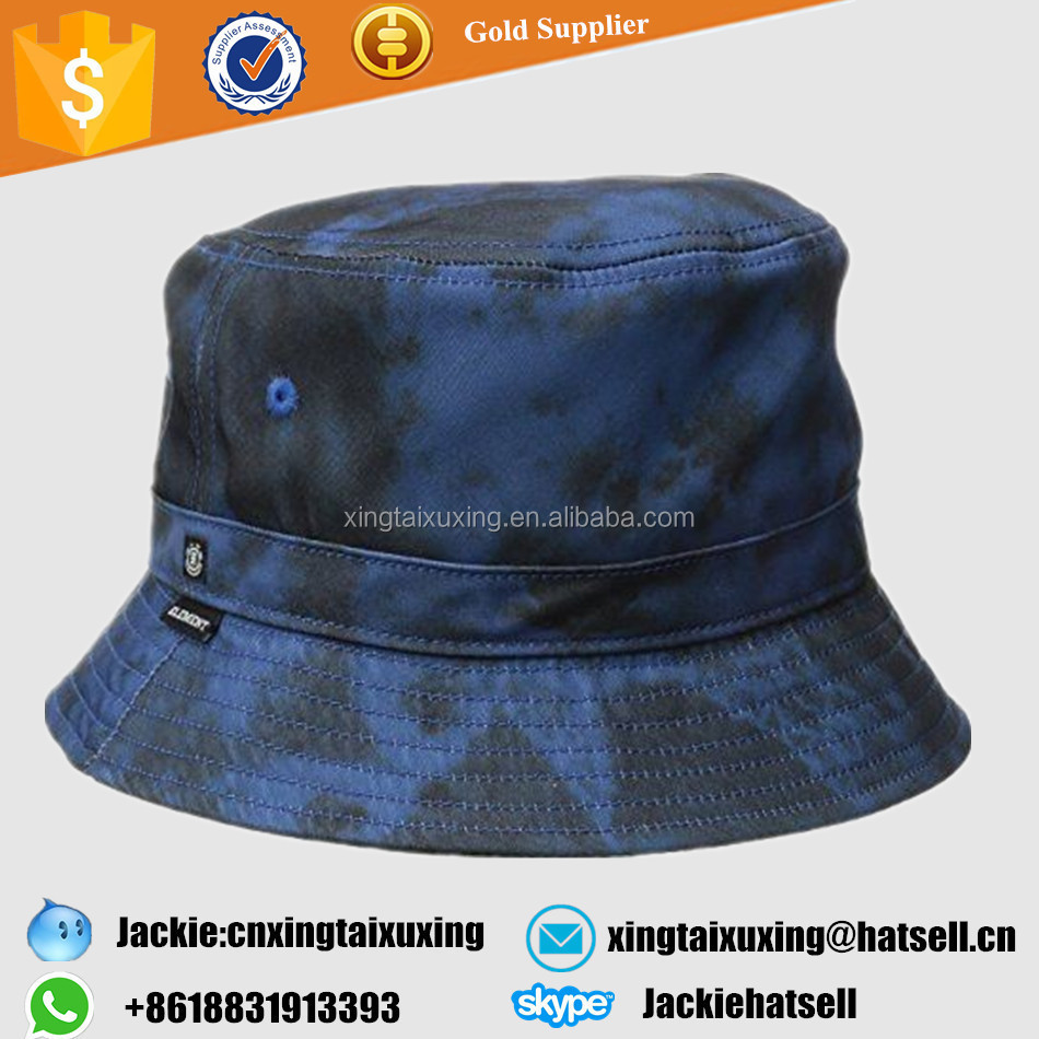 Wholesale polyester cotton custom woven lable all over print bucket hat