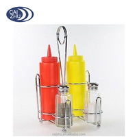 Table Top Metal Wire Spice Condiment Caddy Holder Orgainzer