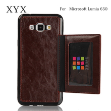 attractive and fashionable pu leather for microsoft lumia 650 flip case covers