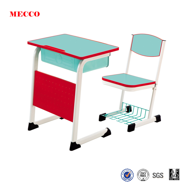 Mecco student desk single steel desk and chair cheap school furniture