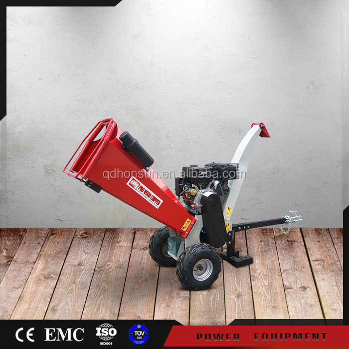 Manufacturer factory direct Honda GX390 engine gas wood chipper shredder commercial hydraulic gas power log chipper machine