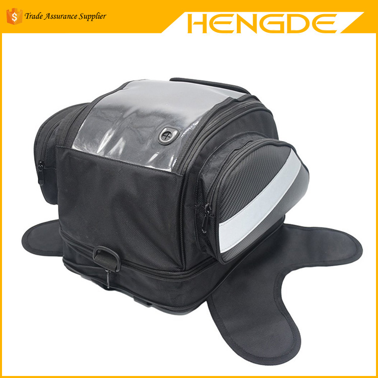 Customized Black Motorcycle Tail Bag