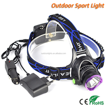 China Powerful Supplier Boruit CREE XM-L T6 LED Head Light Rechargeable Headlamp for Outdoor Sport