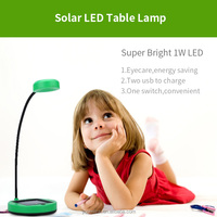 2016 hot sale YMC-L08 rechargeable flexible indoor solar led table lamp brightness adjustable kids luxury table lamp