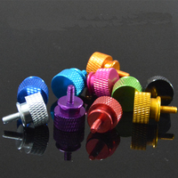 m3 m4 color anodized 7075 aluminum knurled thumb screw