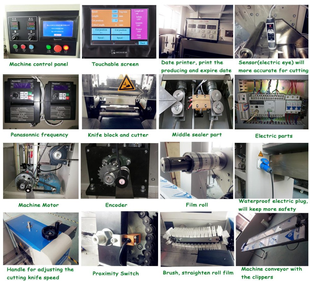 china supplier small flow pillow pack machine with date printer