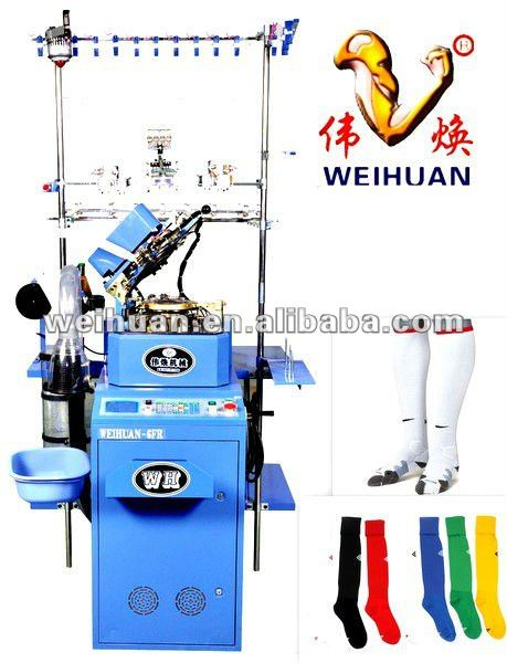 4.5 inch automatic single cylinder sock machine for knitting professional athletics socks (WH-6F-C)