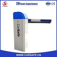 carsafe blue and white traffic barrier for apartment