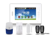 EB-839 315/ 433MHz /868MHZ Touch Screen Wireless Home Perimeter Alarm System