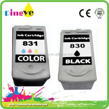 Refillable inkjet ink cartridges for canon PG830/831 recycle ink cartridges