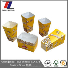 Disposable Food Grade Custom Popcorn Boxes Size