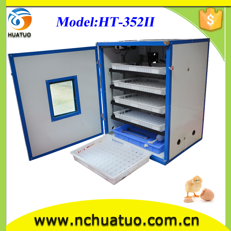 Low powered consumption commercial hatcher and incubating equipment with free candler for sale HT-352ii