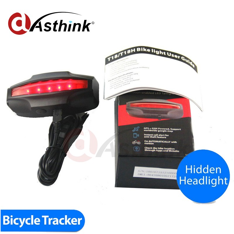 cheap price Tail Lamp Bicycle Track gps tracker tk 107 GSM 850/900/1800/1900 quad band,can be used on every country