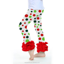 the latest baby girls spring ruffles colorful polka dots 100% cotton kids icing pants