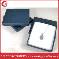 New Blue Paper Box Jewelry Gift Package for Necklace Pendant Earrings Set