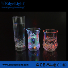 New design glass Wholesale flash led Luminous drink beer cup
