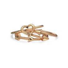 rose gold plated over 925 sterling silver cupid midi ring set