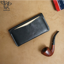 Handmade Band long jackets multifunction leather wallet and phone case