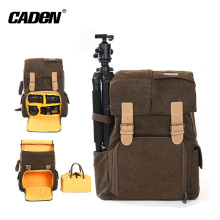 Brown wearproof waterproof camera case bag backpack for nikon d500