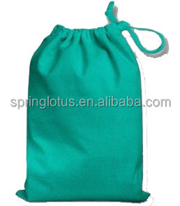 Small Cotton Drawstring Jewelry Pouch Bag
