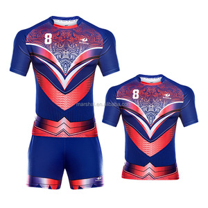 Sublimated Rugby jersey Cheap Rugby Uniform With Sublimation Printed Rugby T Shirt
