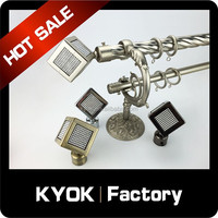 KYOK double curtain rods wholesale & curtain rod accessories factory, arts and crafts finials