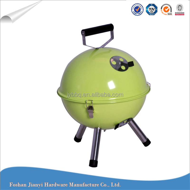 Round Colorful Mini Outdoor Charcoal Korean Portable BBQ Grill Table