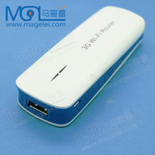 white color 150Mbps Wireless Mini 3G WiFi Router With 1800mAh Power Bank