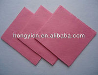 Pink all purpose needle punched nonwoven kitchen cleaning cloth/wipes/towel (viscose/polyester,super absorbent)