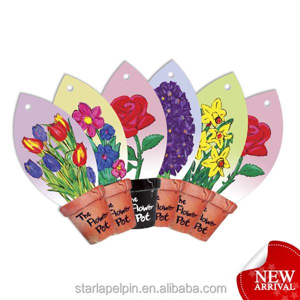 promotional flower paper hanging fragrance car parfums card