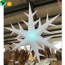LED lighting inflatable snowflake for Christmas shopping mall decoration ST21