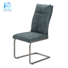 modern stripe fabric chrome legs dining chair